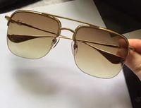 Männer Chrom Stains Plating Sonnenbrille gold braun Verlaufsgläser Designermarke Sonnenbrillen 2017 unisex Neu mit Etui