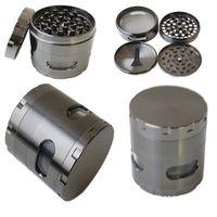 Boru Bitkisel Baharat CNC Herb Öğütücüler Tütün Crusher'ı Sigara Yeni 4 Katman Duman Öğütücü Metal Tütün Öğütücü