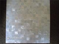 tejas de mosaico nacaradas chinas de la madre del agua dulce del 100% natural blanco puro para la decoración interior de la casa azulejos de la pared de la cocina y del cuarto de baño