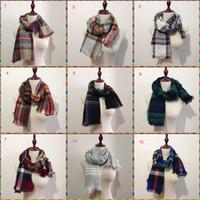 Calda moda USA CA Childre Sciarpa delle ragazze Ragazzi La nuova 2017 autunno / inverno / primavera bambini sciarpa classica griglia imitazione cachemire sciarpa all'ingrosso