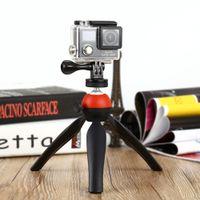حوامل الكاميرا المهنية العالمي ميني ترايبود 7.28 بوصة دوران سطح المكتب مقبض مثبت للهاتف عمل الكاميرا لوحة حامل + ب