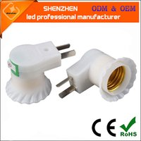 factory Supply plug with switch E27 wall screw lamp holder, ...