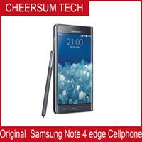 Оригинальный Samsung Galaxy Note 4 Край N915A N915T N915P N915V 3GB / 32GB 5,6 дюймов 2560x1440 16MP разблокирован Восстановленный телефон
