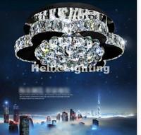 Ücretsiz Kargo Celling Lambaları Ayarlanabilir Renkler LED Kristal Tavan Lambası Modern Tasarım Taklidi Aydınlatma Ev Dekorasyon Lambaları