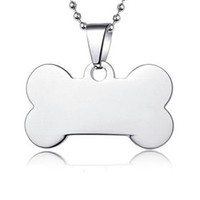 100pcs lot Stainless Steel Bone Pet Dog ID Tags Blank Pet Na...
