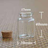 100PCS 15ml Small Clear Cork Glass Bottles For Wedding Holid...