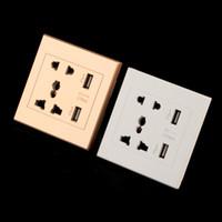 2016 новый бренд двойной USB-порт электрический настенное зарядное устройство док разъем питания розетка панели пластины 2 цвета смарт-вилки DHL бесплатно