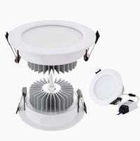 """LED-downlight 2.5 """"3"""" 4 """"5"""" LED-försänkta downlights 9W 12W 15W 18W Dimmable LED-taklampor 150 Vinkel AC 110-240V"""