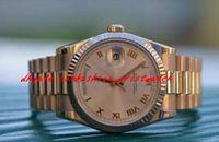 Paslanmaz Çelik Bilezik Nane 18 K Gül Altın Kutu Kağıtları 118235F Erkekler İzle 36mm Otomatik Mekanik Adam İzle Kol Saati