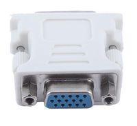 Cabos de Rede de Computadores quentes DVI-I Macho para HD 15 Pin VGA SVGA Feminino Video Card Monitor LCD Converter Adapter