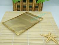 8X13CM, 200 pz / pacco X matte frontale trasparente interno dorato Alluminio foglio ZipLock Bag-calzino senza polvere / sottovuoto chiusura bustina bustina riaperta