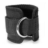 Supporto per la caviglia Elastico Morbido Nero Bordatura Pro Sport Gym Leg Pulley Strap Sollevamento Fitness Forza Brace Protector Per Correre 5 6yf F