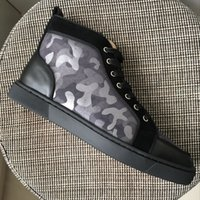 New 2017 men women black with Camouflage leather red bottom ...