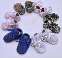 SDMOCCS New Genuine Leather Baby Moccasins Shoes lace up fas...