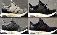 Wholesale 2017 Ultraboost 3. 0 Triple Black Running Shoes Men...