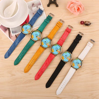 Women Men Fashion Vintage Casual World Map watch By Airplane...