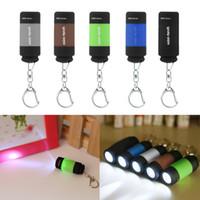 مصغرة سلسلة المفاتيح الجيب الشعلة USB قابلة للشحن الصمام ضوء مصباح المصباح 0.3W 25Lm متعدد الألوان البسيطة الشعلة بالجملة