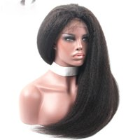 Glueless Full Lace Wigs With Baby Hair Natural Color Brazili...