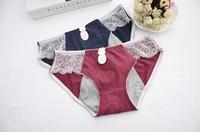 Taille Libre Coton Femmes Période Leak Proof Underwear Menstruel Culotte Pee-preuve Urine Incontinence De Fuite Anti-Fuite Sanitaire Slip Culottes