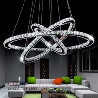 DIY K9 Crystal Chandelier LED Round Circel Pendant Lighting ...