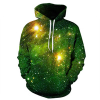 Youthcare Hoodie for Men and Women 3D printed Green Galaxy H...