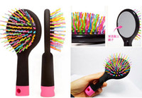 2017 Rainbow Comb Anti- static Hair Brush Volume Massage Hair...