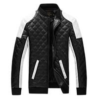 HOT nouveau homme Slim lavage en cuir PU JACKET moto en cuir Vestes Manteau vêtements de dessus plus la taille