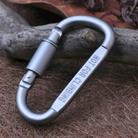 8cm D Ring Locking Carabiner Screw Lock Hanging Hook Buckle ...