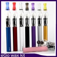 Di alta qualità Ego kit di cera serbatoio di vetro Globe Wax M6 atomizzatore Ego T batteria 650mah con custodia con cerniera 0268030-1