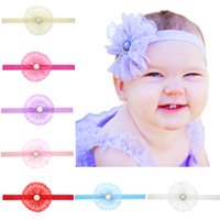 Baby Girls Lace Pearl Headwear Retail New Fashion Photograph...