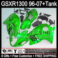 glänzend grün 8Gift Für SUZUKI Hayabusa GSXR1300 96 97 98 99 00 01 13MY69 GSXR 1300 GSX-R1300 GSX R1300 02 03 04 05 06 07 grün schwarz Verkleidung