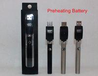 Botón de precalentamiento de la batería Calentador ajustable del vaporizador de precalentamiento de 350 mah vs. toque vape O pluma de vaporizador de precalentamiento de voltaje variable FreeShip