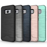 For Galaxy S8 Case 2in1 Hybrid Armor Brushed Holder Credit C...