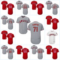 2017 Los Angeles Angels Jersey 67 Greg Mahle 71 Vicente Campos 73 Nate Smith 81 Eduardo Paredes 83 Keynan Middleton Maillot à linge souple