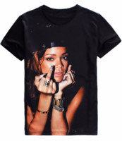 Rihanna Middle Finger T-shirt Bitch Betta Have My Money Impresionante Camiseta Tops Summer Style Tees Pullover Unisex Mujeres Hombres S-5XL H56