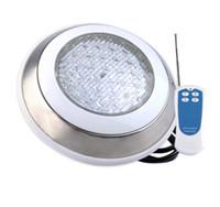 18W LED حمام سباحة ضوء AC 12V الفولاذ المقاوم للصدأ أضواء تحت الماء إضاءة مصباح نافورة الشلال الاصطناعي الديكور لاعبا اساسيا روش