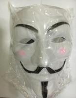 200 pcs Máscara de vingança V mascotes fawkes V vendetta team rosa sangue cicatriz masquerade Filme Adulto Guy Halloween Cosplay festa rosto carnaval