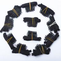 50 piezas peluca de color negro peines peluca clips y peines con 5 dientes para peluca y pelucas haciendo peines extensiones de cabello herramientas