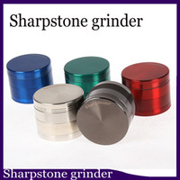 Original SharpStone Grinders Alloy Herb Tobacco Grinder herbal Spice Crusher Cigarette Machine Magnet Strainer Inside 0266122