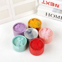 5. 5 * 5. 5 * 3. 5CM multi- color bow small round ring box earri...