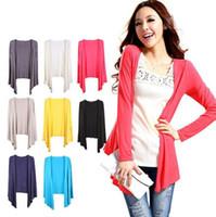 Toptan-Ücretsiz Nakliye, 2013 Yeni Varış Cape Giyim Klima Hiçbir Düğme Ince Hırka Güneş Koruyucu Gömlek Kazak Kadınlar Için