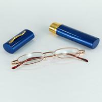 펜 냄비 스타일의 안경으로 슬림 한 금속 튜브 독서 용 안경 혼합 색상과 나이가 들어 좋은 보호를위한 파워 렌즈