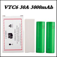 Top qualité batterie VTC6 30A 18650 3000mAh batterie grande capacité décharge Top batterie rechargeable Lithium Li-on E Cig Vape Batterie