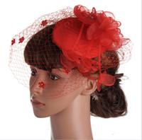 Cappelli da sposa moda bianco / nero / rosso Fascinator Cappelli in forma speciale con piuma per Kentucky Derby / matrimonio / chiesa