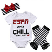 Newborn Baby Little Girl clothes Romper set Infant ruffle Bo...