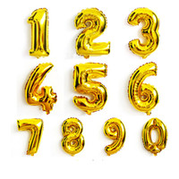 Party Decoration Silver Gold Numbers Foil Balloons Wedding S...