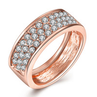 Fashion K Gold Jewelry Women' s Crystal Rhinestones Ring...
