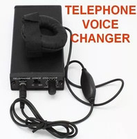 Telefone trocador de voz profissional disguiser telefone transformador de voz trocador de vídeo portátil handheld mudança de voz gadgets preto na caixa de varejo