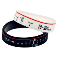 1PC Focus the Lens Silicone Rubber Wristband Soft And Flexib...