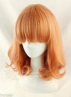 Livraison gratuite Nouvelle perruque de haute qualité Fashion Picture HOT! Perruque ondulée New Fashion Medium Orange Mix Curly Cosplay BOB